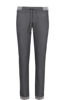 Хлопковые брюки прямого кроя с поясом на кулиске Capobianco