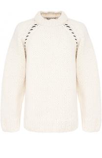 Шерстяной вязаный свитер свободного кроя Marni