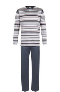 Хлопковая пижама в контрастную полоску Zimmerli