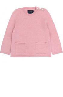 Шерстяной пуловер с карманами и декоративными пуговицами Polo Ralph Lauren
