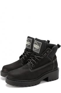 Ботинки из нубука на шнуровке Kenzo