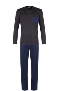 Хлопковая пижама с брюками Zimmerli