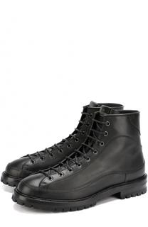Высокие кожаные ботинки на шнуровке Valentino