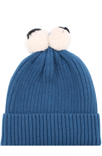 Вязаная шапка с помпонами Stella McCartney