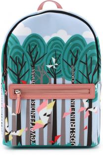 Текстильный рюкзак с принтом Fendi Roma