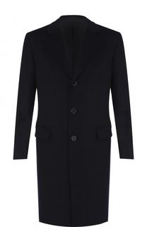 Однобортное кашемировое пальто с отложным воротником Brioni