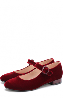 Бархатные туфли с ремешком Beberlis