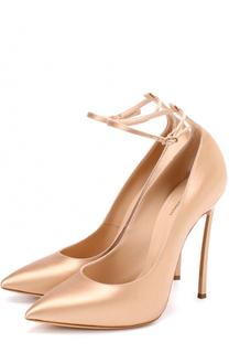 Атласные туфли на шпильке Blade Casadei