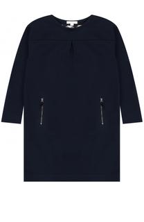 Трикотажное мини-платье прямого кроя с карманами на молнии Burberry