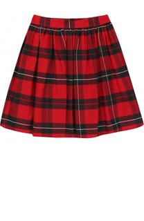 Хлопковая мини-юбка в клетку Dolce & Gabbana