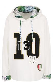Толстовка с капюшоном и контрастной отделкой Dolce & Gabbana