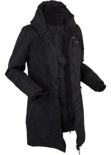 Функциональная куртка дизайна 2 в 1 с капюшоном (черный) Bonprix