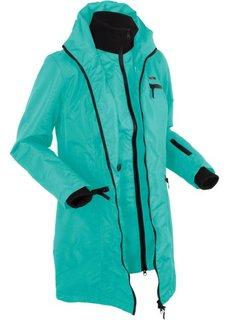 Функциональная куртка дизайна 2 в 1 с капюшоном (зеленый океан) Bonprix