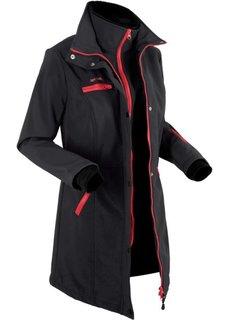 Удлиненная куртка softshell (черный) Bonprix