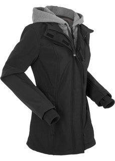 Удлиненная куртка-софтшелл 2 в 1 (черный) Bonprix