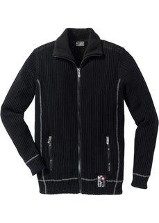 Утепленный кардиган (черный) Bonprix