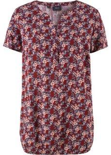 Блузка с коротким рукавом (красный каштан с рисунком) Bonprix