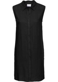 Удлиненная блузка без рукавов (черный) Bonprix