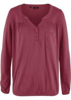 Трикотажная блузка с длинным рукавом (бордовый) Bonprix