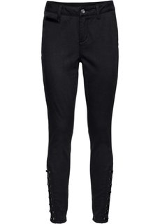 Твиловые брюки со шнуровкой (черный) Bonprix