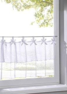 Кухонная штора Фаби (белый) Bonprix