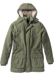Куртка-парка на ватной подкладке (оливковый) Bonprix