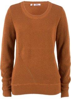 Пуловер с длинным рукавом (бронзовый) Bonprix