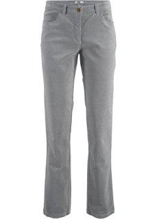 Вельветовые брюки-стретч (серый) Bonprix
