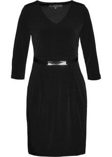 Трикотажное платье класса Премиум (черный) Bonprix