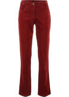 Вельветовые брюки-стретч (красный каштан) Bonprix