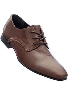 Мужские туфли со шнуровкой (коричневый) Bonprix