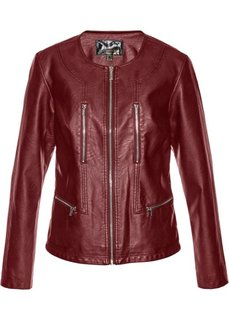 Куртка из искусственной кожи (красный каштан) Bonprix
