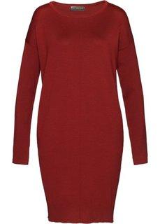 Вязаное платье (красный каштан) Bonprix