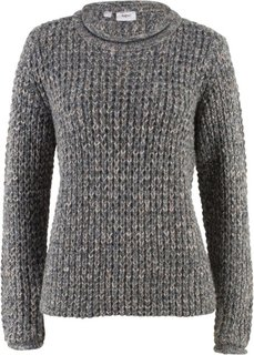Пуловер (меланж ночной сини) Bonprix