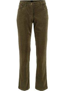 Вельветовые брюки-стретч (темно-оливковый) Bonprix