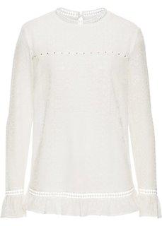 Кружевная блузка (кремовый) Bonprix