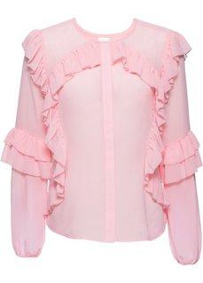 Блузка с воланами (розовая пудра) Bonprix