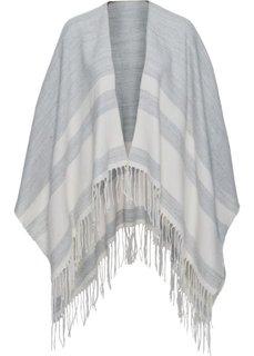 Тканое пончо (светло-серый/песочно-бежевый) Bonprix