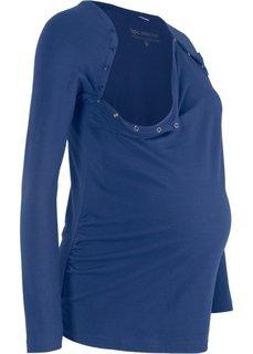 Футболка для беременных с функцией кормления (полуночная синь) Bonprix