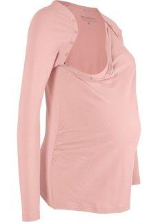 Футболка для беременных с функцией кормления (винтажно-розовый) Bonprix