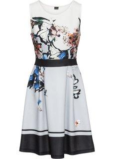 Платье с цветочным принтом (коралловый с рисунком) Bonprix