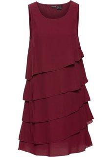 Платье с воланами (кленово-красный) Bonprix