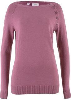 Тонкий пуловер для базового гардероба (ягодный матовый) Bonprix