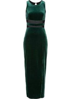 Бархатное платье (темно-зеленый) Bonprix