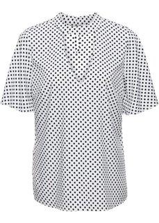 Блузка в горошек с чокером (белый/черный в горошек) Bonprix