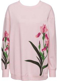 Свитшот с цветочным принтом (нежно-розовый с рисунком) Bonprix