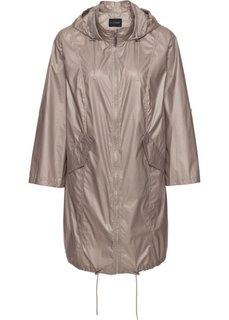 Куртка из блестящего материала, без подкладки (металлик цвета натурального камня) Bonprix