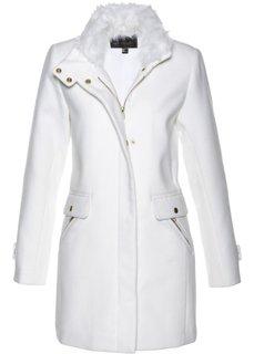 Пальто с содержанием шерсти (кремовый) Bonprix
