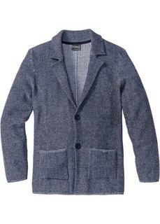 Вязаный пиджак-сакко Regular Fit (темно-синий меланж) Bonprix