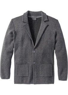 Вязаный пиджак-сакко Regular Fit (серый меланж) Bonprix